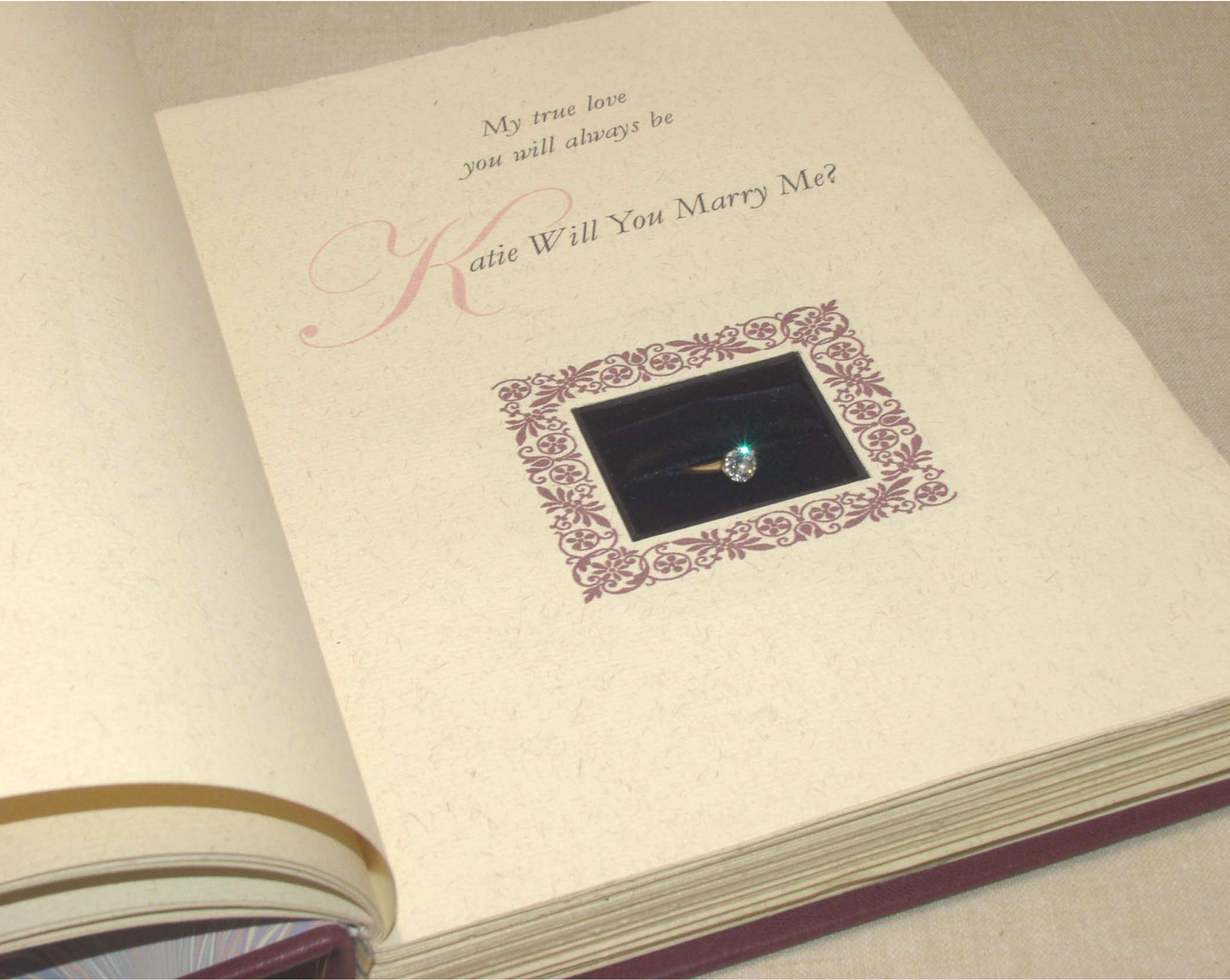 The Currier Bindery Blog Archive Engagement Ring Book
